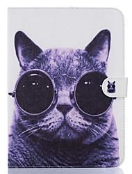 abordables -Funda Para Samsung Galaxy Soporte de Coche Cartera con Soporte Diseños Activación al abrir/Reposo al cerrar Funda de Cuerpo Entero Gato