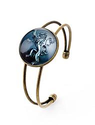 Недорогие -Все Браслет разомкнутое кольцо , металлический Классический Стекло Сплав Круглый Бижутерия Свадьба градация Бижутерия Цвет радуги