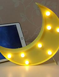 abordables -1pc LED Night Light Blanc Crème Batteries AAA alimentées Décoration