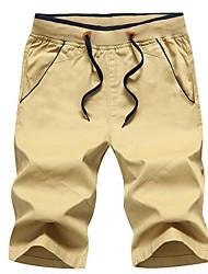 preiswerte -Herrn Normal Street Schick Normal Mikro-elastisch Kurze Hosen Hose, Polyester Frühling Sommer Solide