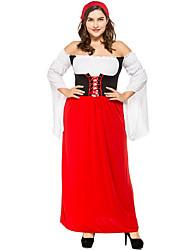 abordables -Oktoberfest/Cerveza Halloween Carnaval Oktoberfest Cumpleaños Festival / Celebración Disfraces de Halloween Rojo Bloques Animal Vampiros