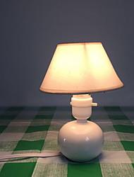 billiga -Traditionell / Klassisk Dekorativ Bordslampa Till Sovrum Keramik Vit