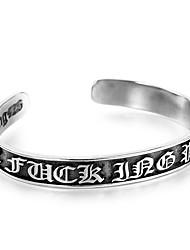 cheap -Men's Bangles - Stainless Steel Hip-Hop Bracelet Black For Daily