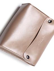 baratos -Bolsa para Côr Sólida PU Leather Adaptador de Tomada Flash  Drive Baterias Externas Hard Drive Fones de Ouvido