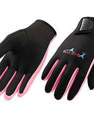 Недорогие -Bluedive Перчатки для рыбалки / Спортивные перчатки / Дайвинг Перчатки 1,5 мм неопрен / Нейлон Полный палец Сохраняет тепло,