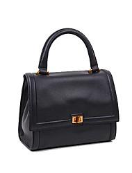 cheap -Women's Bags Cowhide Tote Zipper Black