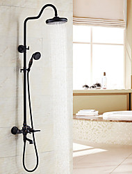 cheap -Antique Centerset Handshower Included Ceramic Valve Two Handles Two Holes Oil-rubbed Bronze, Shower Faucet