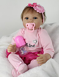 cheap -NPK DOLL Reborn Doll Baby Girl 22inch Silicone / Vinyl - lifelike, Cute, Handmade Girls' Kid's Gift