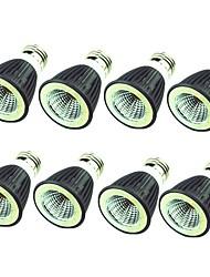 abordables -8pcs 7W 550 lm E14 E26/E27 Spot LED 1 diodes électroluminescentes COB Décorative Blanc Chaud Blanc Froid 220-240V