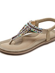 cheap -Women's Shoes Customized Materials Spring / Summer Novelty Sandals Flat Heel Open Toe Black / Almond / Party & Evening