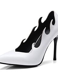 Недорогие -Жен. Обувь Дерматин Весна / Осень Туфли лодочки Обувь на каблуках На шпильке Заостренный носок Белый / Черный / Винный