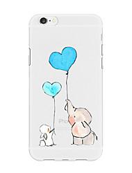 preiswerte -Hülle Für Apple iPhone X iPhone 8 Plus Muster Rückseite Herz Cartoon Design Tier Weich TPU für iPhone X iPhone 8 Plus iPhone 8 iPhone 7