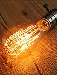 Недорогие -1шт 60 W E26 / E27 ST64 Тёплый белый 2200-2300 k Ретро / Диммируемая / Декоративная Лампа накаливания Vintage Эдисон лампочка 220-240 V