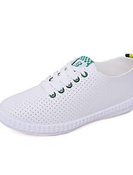 Недорогие -Жен. Обувь Полиуретан Весна лето Удобная обувь Кеды На плоской подошве Черный / Зеленый / Синий