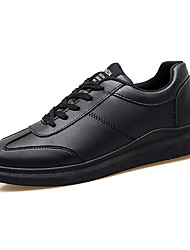 cheap -Men's Shoes PU Summer Driving Shoes Couple Shoes Comfort Oxfords Lace-up for Casual White Black Black/White