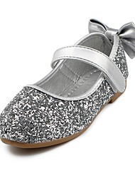 cheap -Girls' Shoes Sparkling Glitter / Leatherette Spring / Fall Comfort / Flower Girl Shoes Flats Bowknot / Magic Tape for Gold / Silver