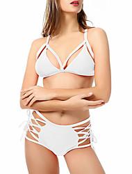 billige -Dame Basale Med stropper Bikini - Helfarve
