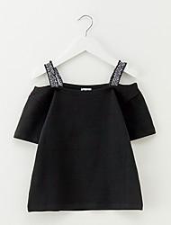 preiswerte -Kinder Mädchen Einfach Solide Baumwolle Bluse