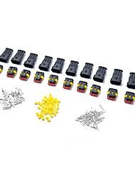 Недорогие -10 комплектов 3 штыря способ герметичный водонепроницаемый электрический провод разъем штепсельная розетка автомобильный автосет
