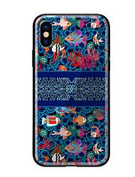 Недорогие -Кейс для Назначение Apple iPhone X iPhone 8 С узором Кейс на заднюю панель Животное Твердый Закаленное стекло для iPhone X iPhone 8 Pluss