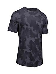 preiswerte -Herrn Laufshirt Kurzarm Atmungsaktivität T-shirt für Übung & Fitness Polyester Weiß Schwarz S M L XL XXL