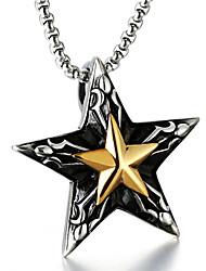 Недорогие -Муж. Ожерелья с подвесками  -  Везучий Мода Серебряный Ожерелье Назначение Повседневные, Для улицы