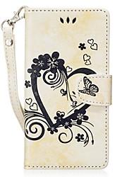 abordables -Coque Pour Huawei P9 Lite P8 Lite (2017) Porte Carte Portefeuille Avec Support Clapet Relief Coque Intégrale Couleur unie Papillon Dur