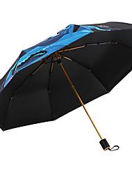 abordables -Tejido Hombre / Mujer Soleado y lluvioso / A prueba de Viento / nuevo Paraguas de Doblar