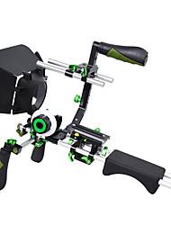 abordables -yelangu mis kit film dslr rig épaule plate-forme de montage avec mise au point de suivi et de boîte de mat et poignée supérieure pour