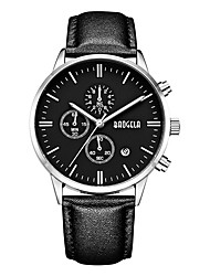 cheap -BAOGELA Men's Quartz Fashion Watch Sport Watch Casual Watch Chinese Calendar / date / day Stopwatch Genuine Leather Band Casual Fashion