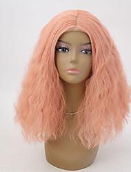abordables -Perruque Lace Front Synthétique Ondulation Ligne de Cheveux Naturelle Femme Dentelle frontale Perruque Naturelle Court Cheveux