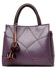 cheap -Women's Bags PU Tote Flower Gray / Purple / Yellow