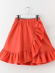 cheap -Girls' Solid Skirt, Polyester Spring Sleeveless Blue Red
