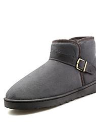 preiswerte -Herrn Schuhe PU Frühling Herbst Komfort Stiefel Reißverschluss für Normal Schwarz Grau Dunkel Braun Rot Blau