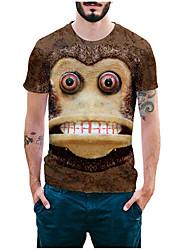 Herre - Dyr, Basale Trykt mønster T-shirt