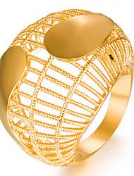 Недорогие -Жен. Позолота Кольцо - Геометрической формы Мода Подарок Назначение Свадьба Подарок