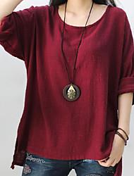 economico -T-shirt Per donna Semplice Tinta unita