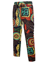 cheap -Men's Chinoiserie Boho Chinos Pants - Floral