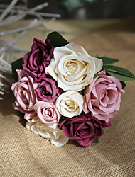 cheap -Artificial Flowers 9 Branch Rustic / Wedding Flowers Roses Tabletop Flower