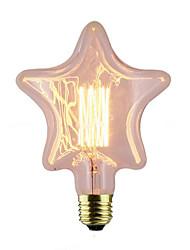 billige -1pc 40 W E26 / E27 Stjerne Varm hvid 2300 k Kontor / Business / Dekorativ Glødende Vintage Edison lyspære 220-240 V