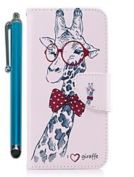 Недорогие -Кейс для Назначение Huawei Mate 10 lite Mate 10 Бумажник для карт Кошелек со стендом Флип Магнитный Чехол Животное Твердый Кожа PU для