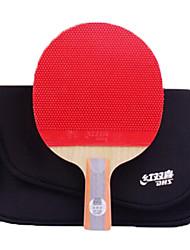 abordables -DHS® R6006-R6007 Ping Pang/Tennis de table Raquettes Bois Caoutchouc 6 étoiles Manche Court Boutons