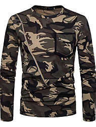 cheap -Men's Street chic Cotton Slim T-shirt - Camouflage Round Neck