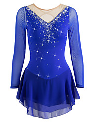 cheap -Figure Skating Dress Women's / Girls' Ice Skating Dress Aquamarine Rhinestone / Sequin High Elasticity Performance / Leisure Sports