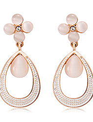 cheap -Women's Drop Synthetic Opal Rose Gold Drop Earrings - Elegant / Fashion Gold / White Four Leaf Clover Earrings For Party / Evening /