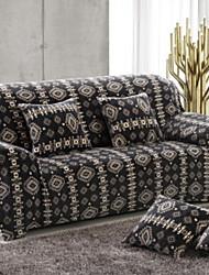 abordables -Moderno Jacquard de Poliéster al 100% Cobertor de Sillón Doble, Simple Confortable Un Color Estampado Impreso Fundas