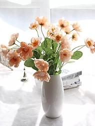 baratos -2 Ramo Poliéster Plástico Outras Flor de Mesa Flores artificiais Decoração para casa Bouquets de Noiva