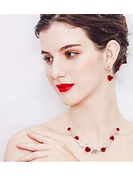 Недорогие -Жен. Комплект ювелирных изделий - Цветы европейский, Мода Включают Красный Назначение Свадьба Повседневные
