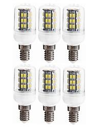 Недорогие -SENCART 6шт 5W 800 - 1200lm E14 / GU10 LED лампы типа Корн T 42 Светодиодные бусины SMD 5730 Декоративная Тёплый белый 12V