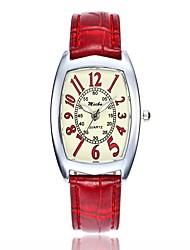 Недорогие -Жен. Нарядные часы Модные часы Повседневные часы Китайский Кварцевый Повседневные часы PU Группа На каждый день Мода Белый Синий Красный